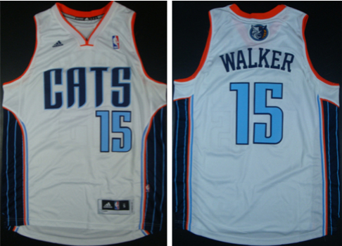 Bobcats 15 Kemba Walker White Revolution 30 Swingman Jerseys