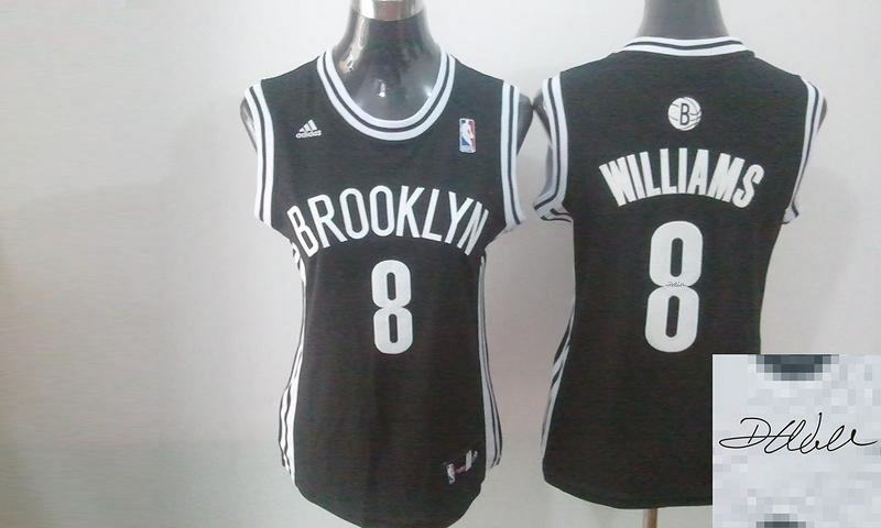 Nets 8 Williams Black Signature Edition Women Jerseys