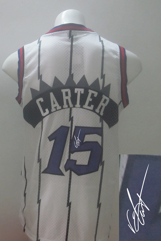 Raptors 15 Carter White Signature Edition Women Jerseys