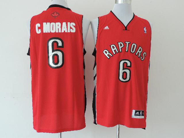 Raptors 6 C Morais Red New Revolution 30 Swingman Jerseys