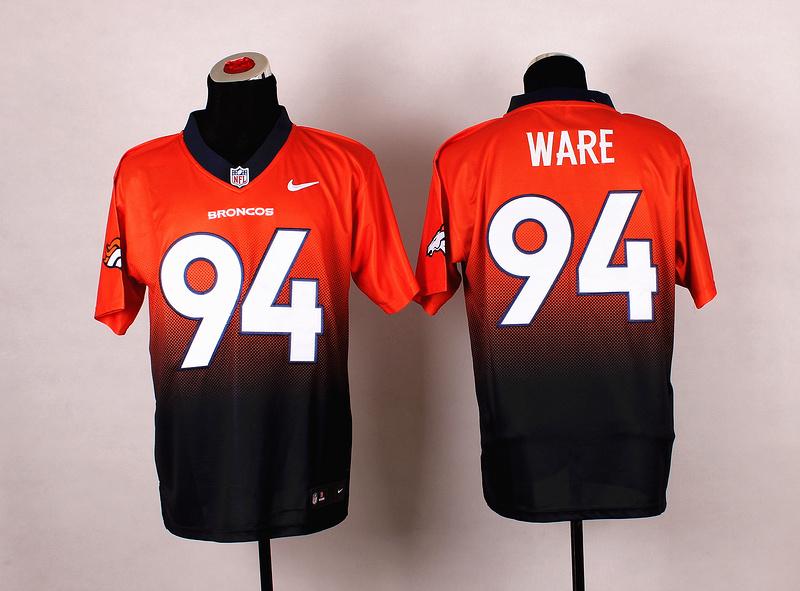 Nike Broncos 94 Ware Orange And Black Drift II Elite Jerseys
