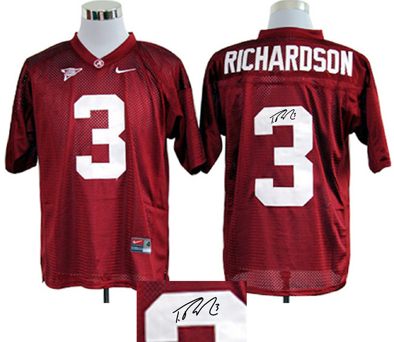 Alabama Crimson Tide 3 Richardson Red Signature Edition Jerseys