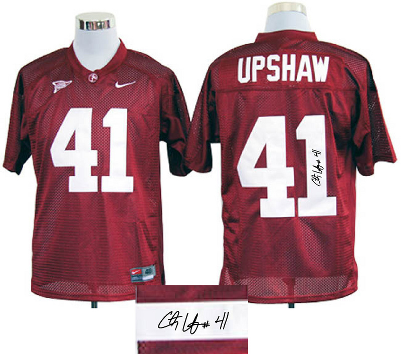 Alabama Crimson Tide 41 Upshaw Red Signature Edition Jerseys