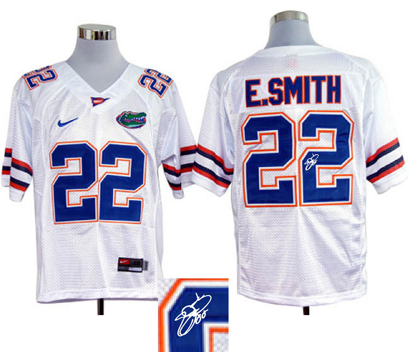 Florida Gators 22 E.Smith White Signature Edition Jerseys