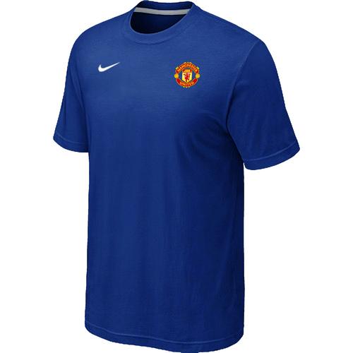 Nike Club Team Manchester United Men T-Shirt Blue