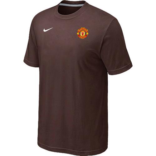 Nike Club Team Manchester United Men T-Shirt Brown