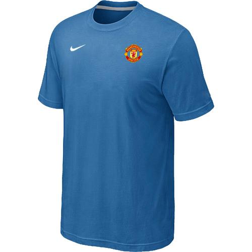 Nike Club Team Manchester United Men T-Shirt L.Blue