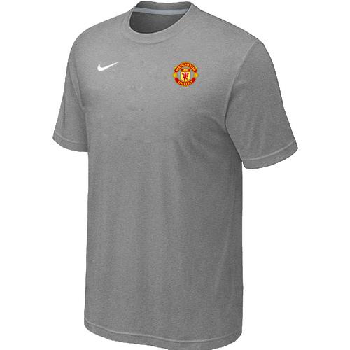Nike Club Team Manchester United Men T-Shirt L.Grey