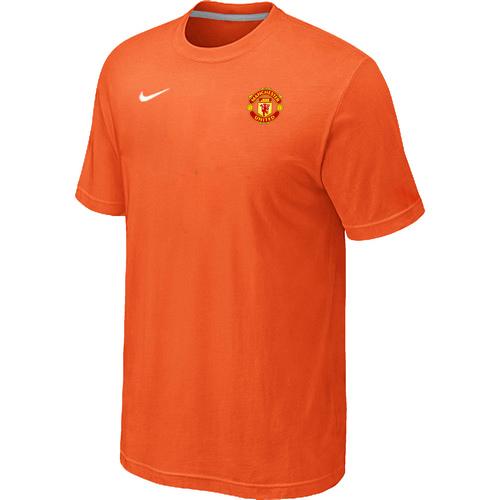 Nike Club Team Manchester United Men T-Shirt Orange