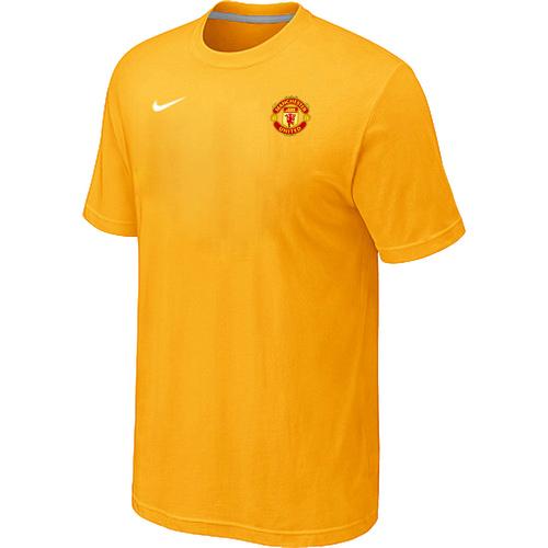 Nike Club Team Manchester United Men T-Shirt Yellow