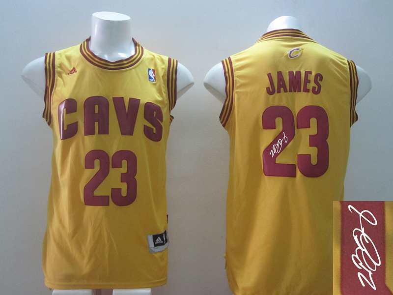 Cavaliers 23 James Gold Revolution 30 Signature Edition Jerseys