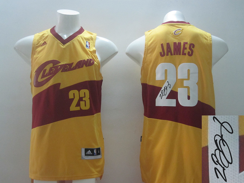 Cavaliers 23 James Gold Revolution 30 Throwback Signature Edition Jerseys