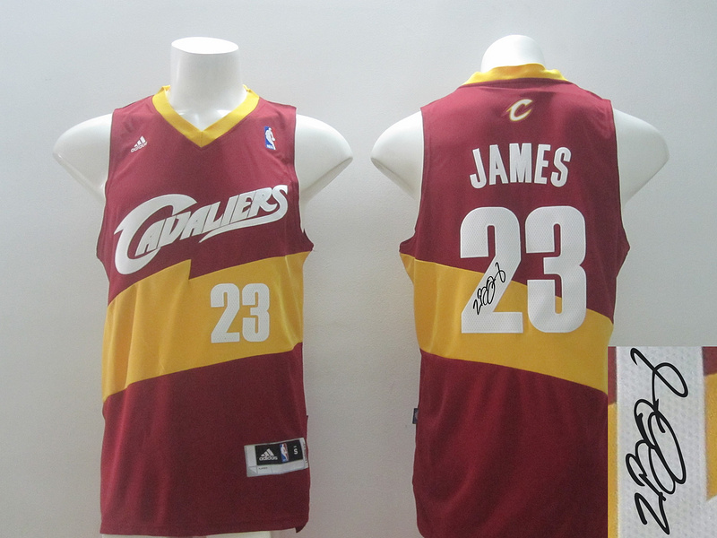 Cavaliers 23 James Red Revolution 30 Throwback Signature Edition Jerseys