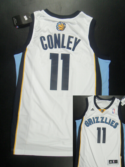 Grizzlies 11 Conley White New Revolution 30 Jerseys