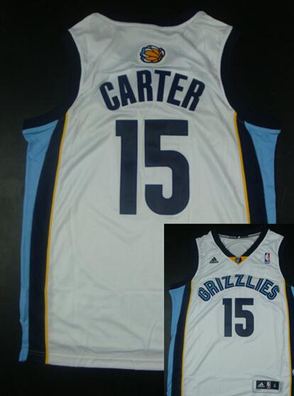 Grizzlies 15 Carter White New Revolution 30 Jerseys