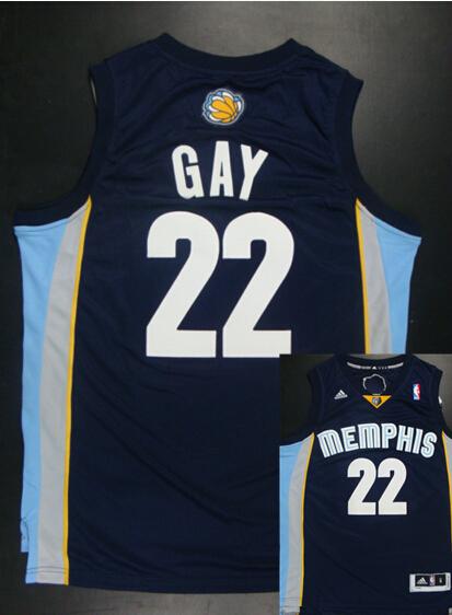 Grizzlies 22 Gay Dark Blue New Revolution 30 Jerseys
