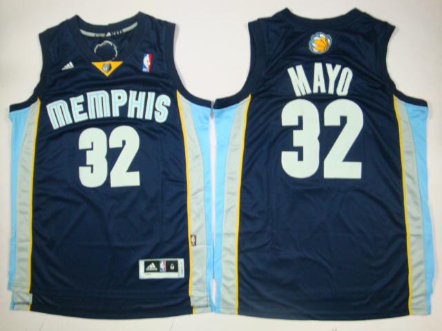 Grizzlies 32 Mayo Dark Blue New Revolution 30 Jerseys
