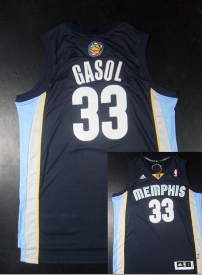 Grizzlies 33 Gasol Dark Blue New Revolution 30 Jerseys