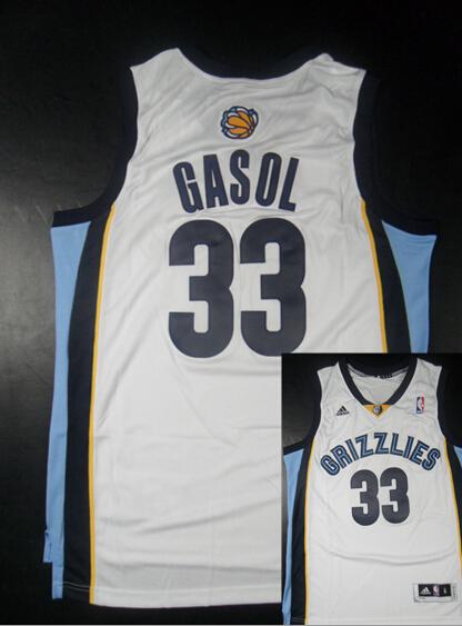 Grizzlies 33 Gasol White New Revolution 30 Jerseys