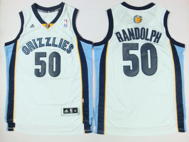 Grizzlies 50 Randolph White New Revolution 30 Jerseys