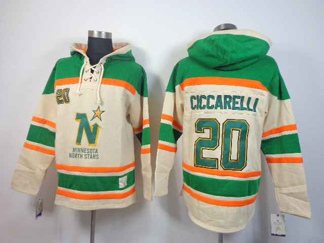 Stars 20 Ciccarelli Cream Hooded Jerseys