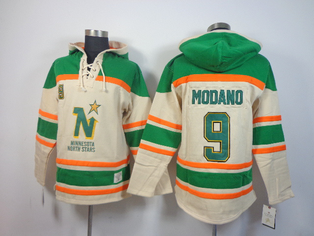 Stars 9 Modano Cream Hooded Jerseys